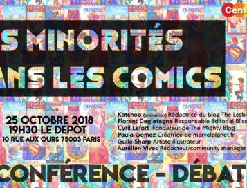 Les minorités dans les comics – Conférence/débat